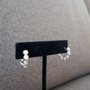 Jewelry - Sterling CZ hoop earrings